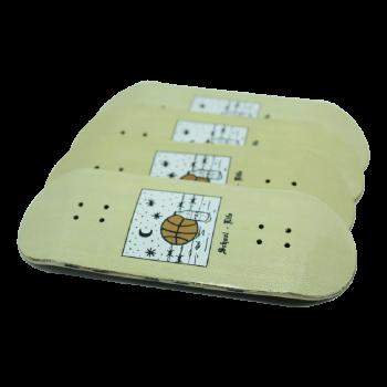 Fingerboards School Life diseñados por Rudens y hechos a mano por ALP Fingerboard