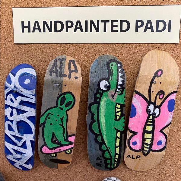 evolución alp fingerboard 2013 handpainted padilla