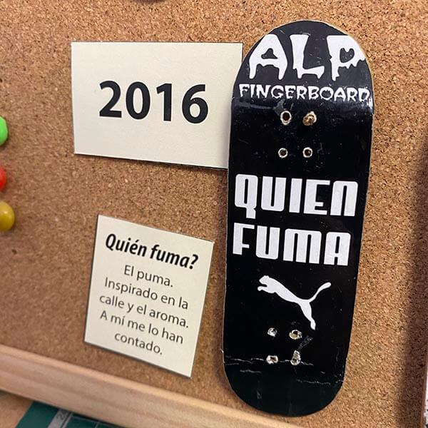 evolución alp fingerboard 2016 quien fuma